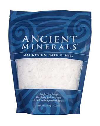 Professional Strength Ancient Minerals Magnesium Bath Flakes – Single Use – 1.65 lbs