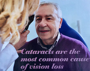 Cataracts are the most common form of vision loss